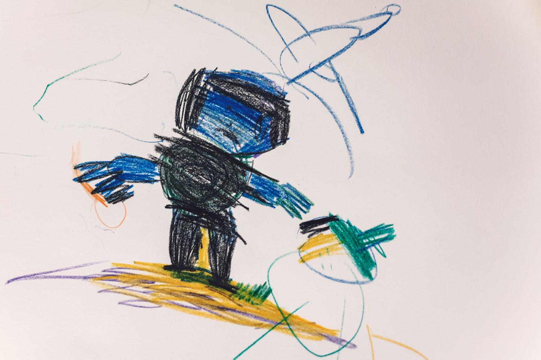 Rysunek dziecka - alienacja rodzicielska adwokat Gdańsk
