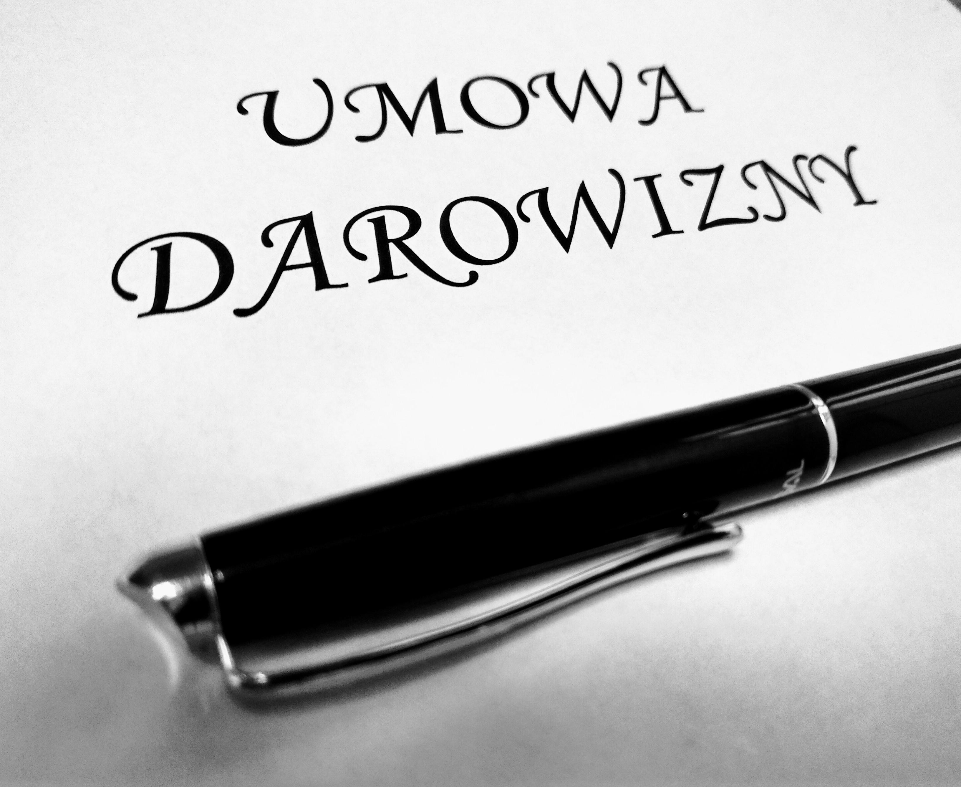 umowa darowizny - adwokat Gdańsk